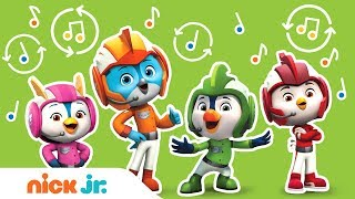 Top Wing Theme Song REMIX Versions in 5 Minutes  Top Wing  Nick Jr.