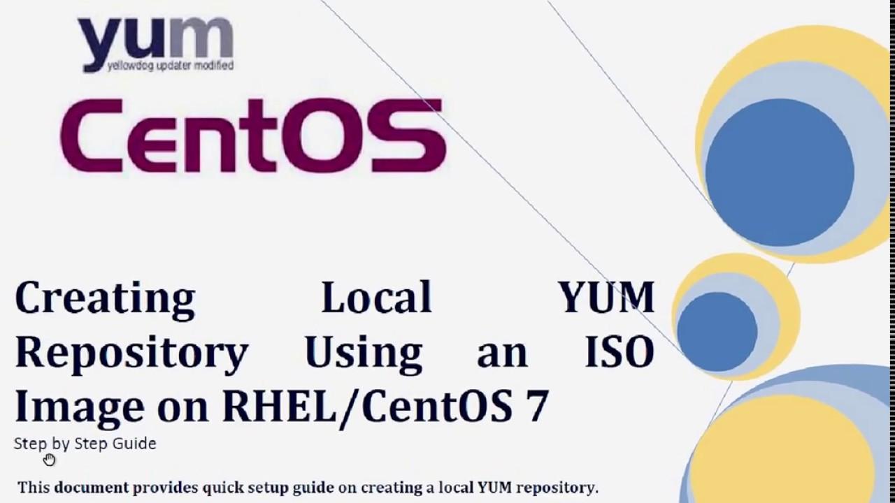 Configuring LOCAL YUM repo on CentOS or RHEL 7