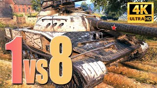 """Object 907: """"Easy"""" looking 1vs8 - World of Tanks"""