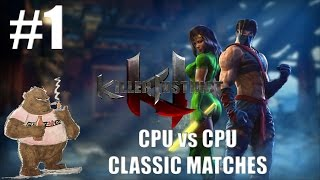 Killer Instinct: Classic Matches | CPU vs CPU on Kyle Difficulty (Part 1)