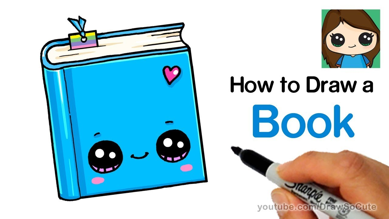 How To Draw A Book Easy Cute Back To School Supplies Youtube