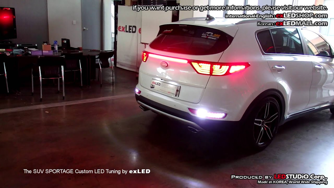 the suv sportage custom led tuning by exled ql. Black Bedroom Furniture Sets. Home Design Ideas
