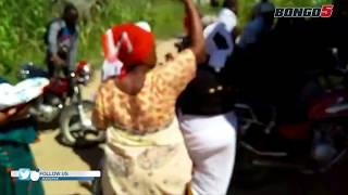 HUZUNI: Mke wa SAM WA UKWELI azimia  baada ya kuona mwili wa MUMUWE