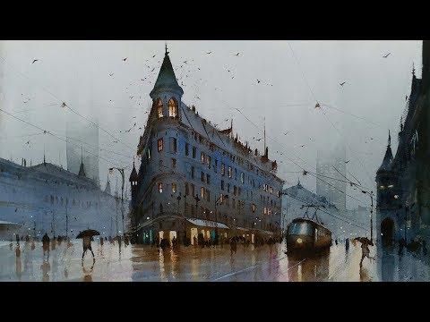 Watercolour Landscape Painting | Wet Roman Street | Rome , italy | EPSODE 28 | Ganesh Hire
