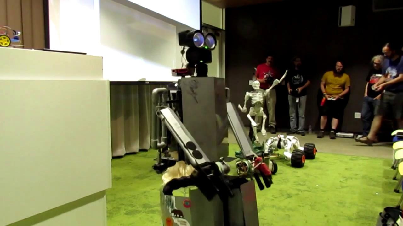 Home Brew Robotics Club Meeting Jun 2018 Robot Dance Party Youtube