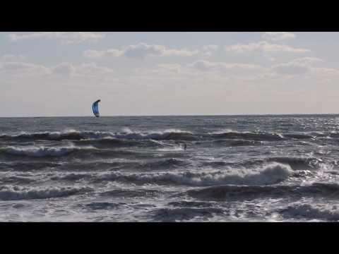 Horseneck Beach Kiteboarding 12/10/2009