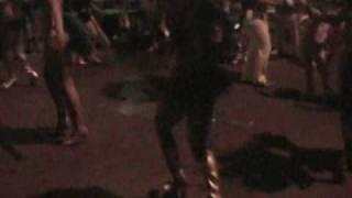 Mardi Gras Downtown San Diego, Brasilian Dancers are performing Samba on 5th avenue!