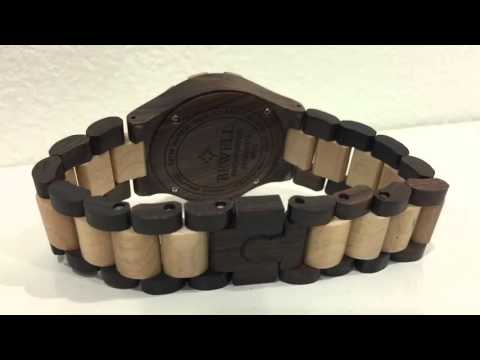 MEN'S Wooden WristWatch w/ Date Calendar