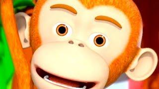 Five Little Monkeys - Cartoon Nursery Rhymes for Kids by Little Treehouse