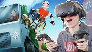 HAPPY WHEELS IN VIRTUAL REALITY! | Wheelchair Simulator VR (HTC Vive Gameplay)