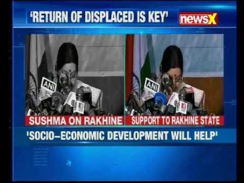 Indian External Affairs Minister Sushma Swaraj Speaks On Rohingya Crisis