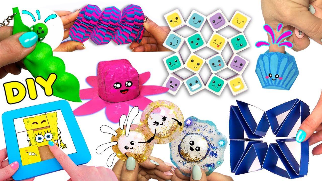 10 DIY fidget toys Ideas I 10 ИДЕЙ Антистресс игрушек-непосед своими руками