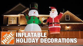 How To Set Up Inflatable Holiday Decorations - The Home Depot