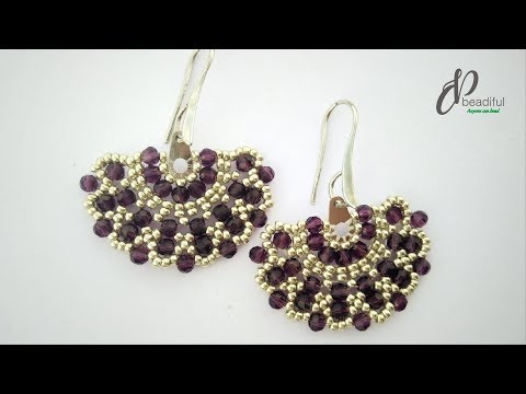 Brick stitch Earrings 🎇👍 | Easy to make beaded earrings | How to make earrings