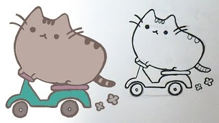 C Mo Dibujar Gatito Pusheen Dj Kawaii From Youtube The