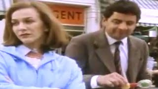 Bus Stop, Lady and Pram | Mr. Bean Official