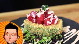 Как приготовить хрустящее авокадо с тунцом   Японская кухня