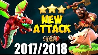 HOGS + DRAGON: DRAGHO NEW TH9 STRONG WAR ATTACK STRATEGY 2017 | Clash of Clans