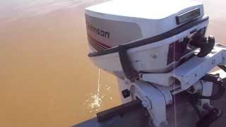 Testing 1985 Johnson 15 Hp On Camo Jon Boat