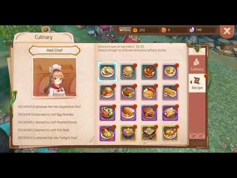 ALL CULINARY RECIPES ! - Tales of Wind | Laplace M