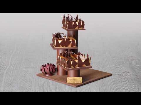Réalisation d'un Présentoir en Chocolat par Stéphane Glacier - Condifa