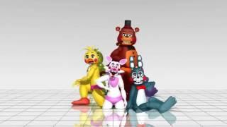 Фредди, Фокси, Бони, Чика танцуют. Песня Чики