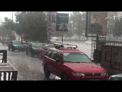 بارش ژاله در شهر کابل