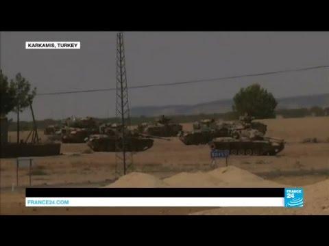 Syria: Turkey launches vast military operation to retake Islamic state stronghold of Jarablus