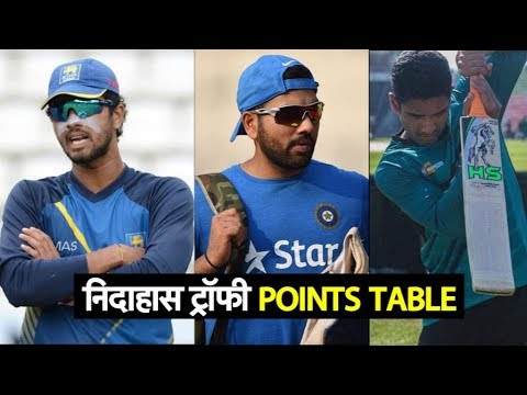 Nidahas Trophy 2018: Points Table & Team Standings | Sports Tak
