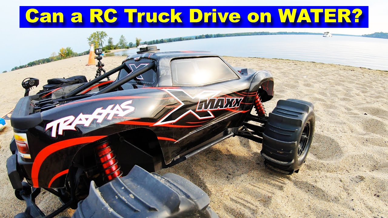 Can an RC Truck drive on Water and Survive? I drown my Traxxas X-Maxx and Rustler VXL