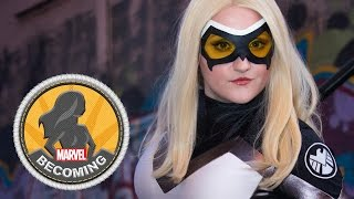 Cosplayer Castle Corsetry becomes Mockingbird - Marvel Becoming