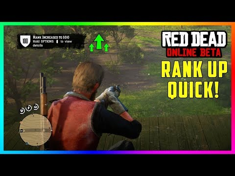 Red Dead Online - How To Rank Up FAST! Level Up Quickly & Earn Easy XP Points! (RDR2)