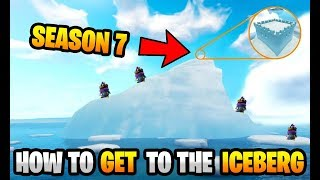 *NEW* Fortnite How to Get to the Iceberg Glitch! Season 7 SECRET CASTLE!
