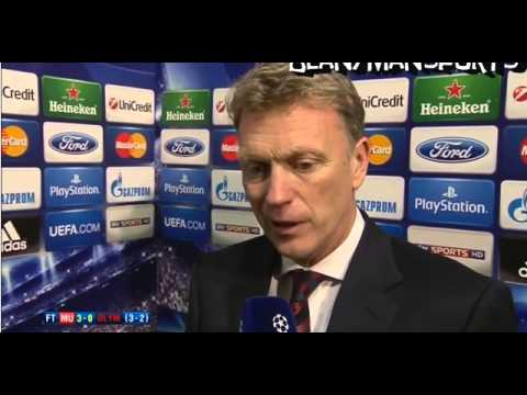 Manchester United 3-0 Olympiakos - David Moyes Interview