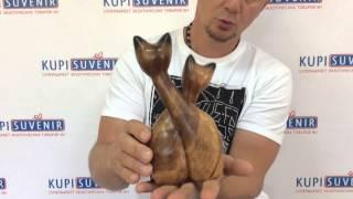 Статуэтка деревянная «Кошачьи нежности»