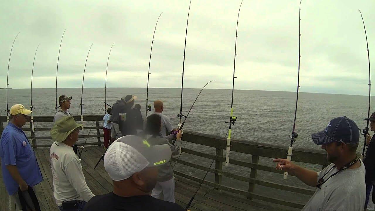 Len blackmon 28lb king mackerel seaview fishing pier for Seaview pier fishing report
