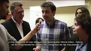 Gloria Elizo, Juan Antonio Delgdo y Javier Sánchez Serna de camino al #28A