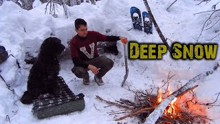 Winter Overnight | N๐ Tent, Keeping Dog warm in -10
