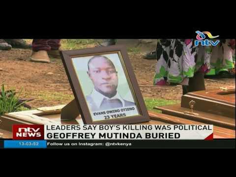 7 year old Geoffrey Mutinda buried in Mwala