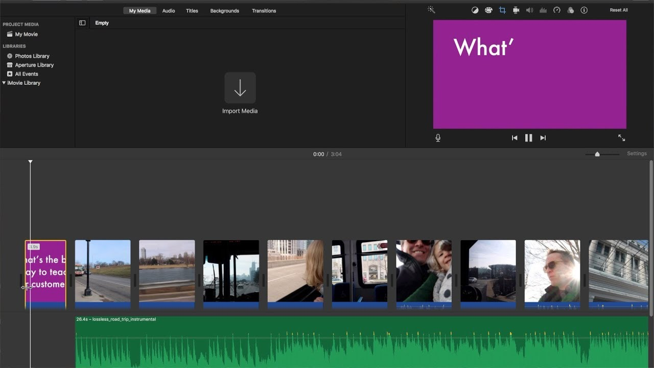 How to do the Typewriter Effect in iMovie