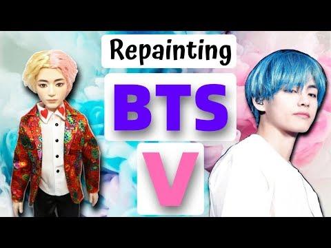 BTS Bangtan Boys - V (Kim Taehyung) Doll Repaint by Poppen Atelier (방탄소년단 김태형 인형) Boy With Luv thumbnail