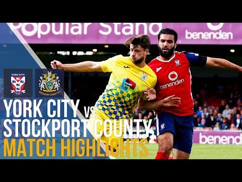 York City Vs Stockport County - Match Highlights - 09.09.17