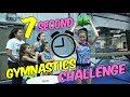 Gymnast VS Coach 7 Second Gymnastics Challenge  Rachel Marie