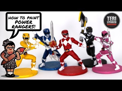 How To Paint The Power Rangers From Power Rangers: Heroes of the Grid (Tutorial)