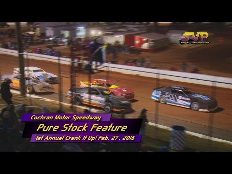 Cochran Motor Speedway Pure Stock Feb  27 , 2016
