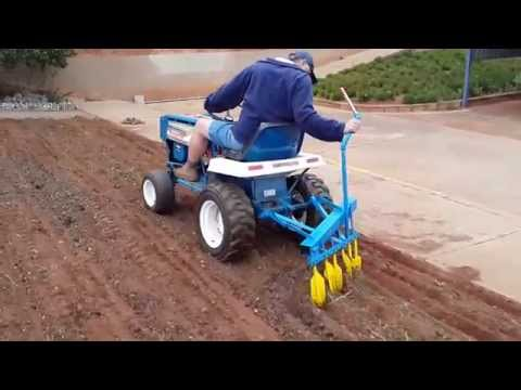 Lawn Tractor ploughing