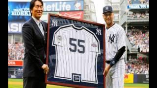 2013年7月29日 ニューヨークヤンキースタジアムで行われた松井秀喜引退...