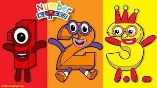 Numberblocks - Numbers One Two Three Four Five Six Seven Eight Nine Ten - Fun House Toys Alphablocks