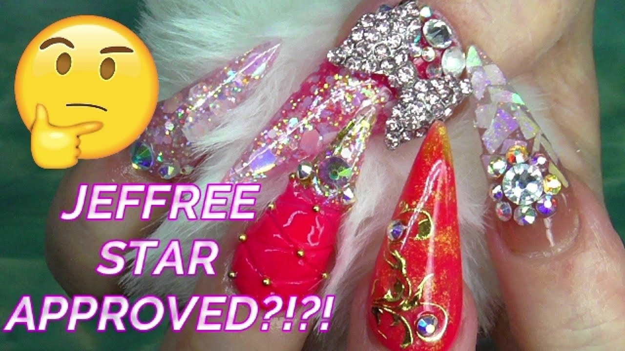 JEFFREE STAR INSPIRED BLING ACRYLIC NAILS | ABSOLUTE NAILS ...