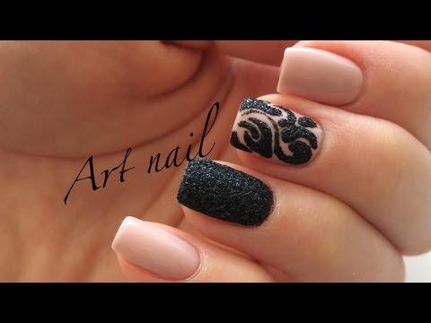 Сахарный песок дизайн ногтей